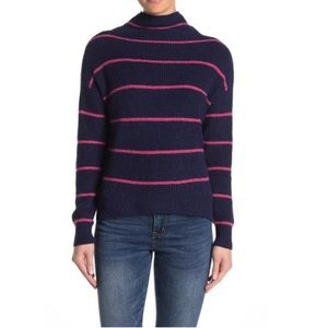 Abound Striped Mock Sweater NAVY PEACOAT S…